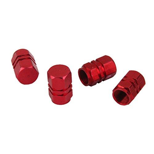 4x Llantas Llantas De Aluminio Vastago Tapones De Las Valvulas De Aire Cubierta Del Neumatico De Camion Coche Rojo