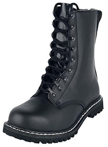Negro Negro Brandit Para Militares Botas Botas xwSq6Y41H
