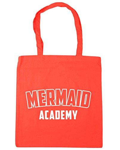 HippoWarehouse Mermaid Academy Tote Shopping Gym Beach Bag 42cm x38cm, 10 litres Coral