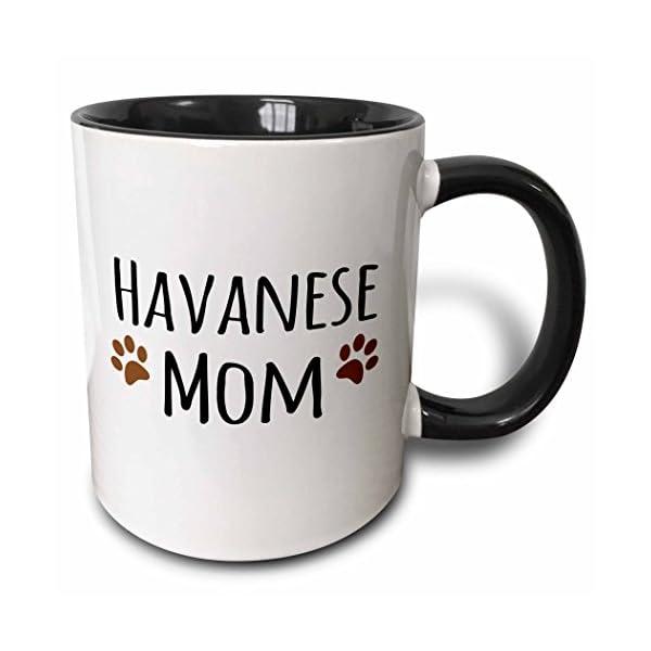 3dRose 154134_4 Javanese Dog Mom Mug, 11 oz, Black 1
