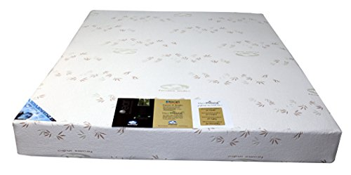 Foams India Natural Latex Foam Single Mattress with Pillow (72x36x4 Inches, Multicolour)
