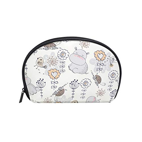 Senya Travel Cosmetic Bag Small Makeup Portable Carry Case Pouch Girls Women Personalized Organizer Tote Bag For Jewelry Toiletries Flowers And -