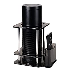 Speaker Stand for Alexa Echo Plus, All-new Echo 2nd Generation with Alexa Voice Remote Holder, Acrylic Black