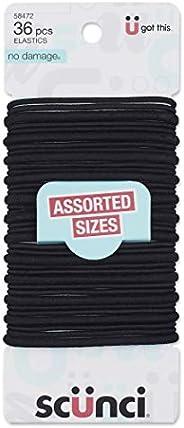 Scunci Elásticos de 4 mm e 2 mm sem danos, 36 unidades (pacote com 1)