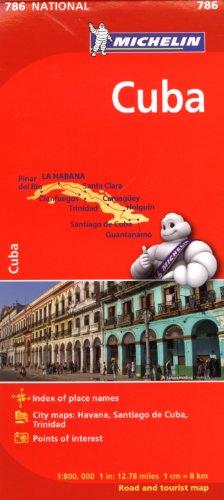 Cuba Map - Michelin Cuba Map 786 (Maps/Country (Michelin))