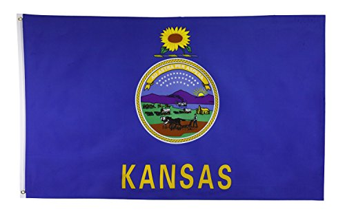 Shop72 US Kansas State Flags - Kansas Flag - 3x5' Flag From