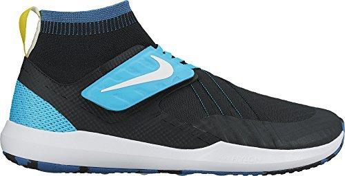 Nike Men's Flylon Train Dynamic Training Shoe, Size 10.5, (Black/White-Industrial Blue)