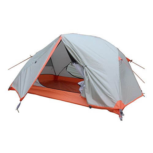 Hewolf-2-People-4-Seasons-Waterproof-Bottom-Part-6000mm-Outer-Tent-5000mm-Portable-Spring-Winter-Camping-Tent-Light-Grey
