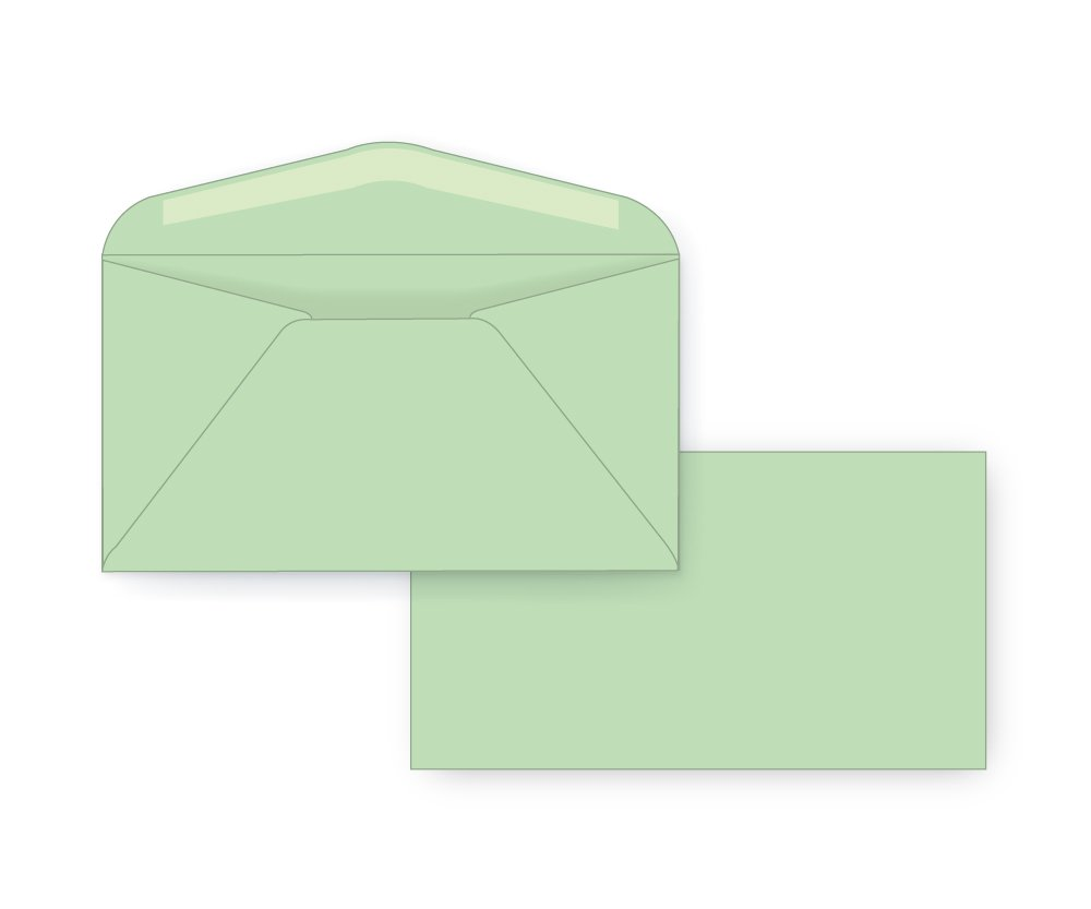 #6 3/4 Regular Envelope - Pastel - 24# Light Green (3 5/8 x 6 1/2) - Colors Series (Box of 500)