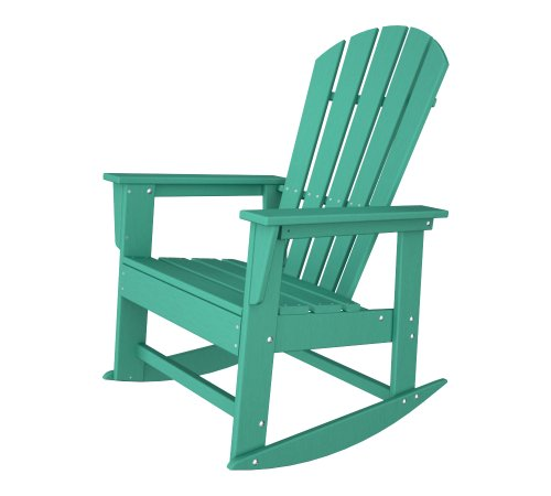 Polywood Shell (POLYWOOD SBR16AR South Beach Rocker, Aruba)