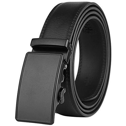 Five Buckle (Men's Leather Belt-Ratchet Dress Belt with Automatic Buckle (Alloy Buckle #)