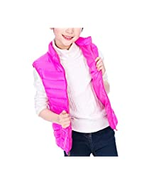 zhbotaolang Vest Child Sleeveless Waistcoat Jacket Windproof Warm Cotton Down Coat