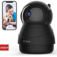 Victure 1080P FHD Pet Camera with WiFi IP Camera Indoor Security Camera Motion Detection Night Vision Home Surveillance…