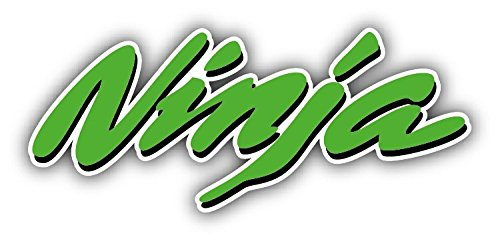 Ninja Kawasaki Logo Auto Slogan Green Car Bumper Sticker Decal 6