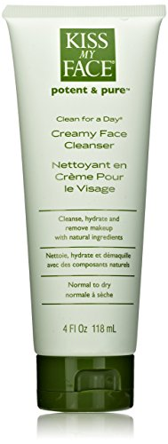Kiss My Face Organic Clean for a Day Creamy Face Cleanser,  Face Wash 4 Ounce Tubes (pack of (Creamy Hydrating Cleanser)
