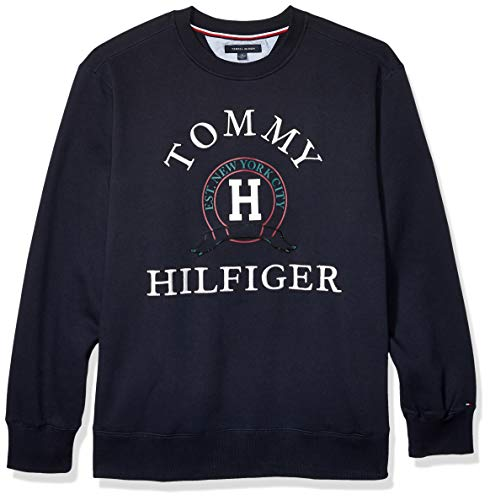 Tommy Hilfiger Men's Big and Tall Crewneck Sweatshirt