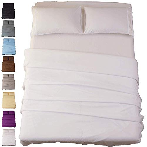- Sonoro Kate Bed Sheet Set Super Soft Microfiber 1800 Thread Count Luxury Egyptian Sheets 16-Inch Deep Pocket Wrinkle and Hypoallergenic-4 Piece(Queen White)