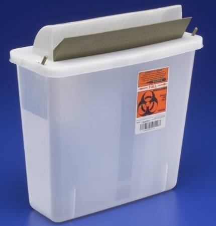 ZAMA SharpSafety Needle Collection Container, Mailbox, Clear, 5qt, #85121 CASE (20 Each/Case) / 11 / 113.08 by Covidien