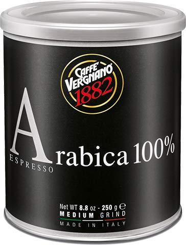 Caffe Vergnano Espresso, Medium Ground, 8.8-Ounce Cans (Pack of 2)