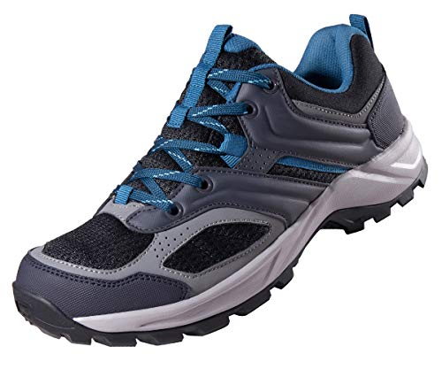CAMEL CROWN Hiking Shoes for Men Trail Running Backpacking Walking Shoes Breathable Slip Resistant Sneakers Lightweight Athletic Trekking Low Top Boot Black 10.5D(M)