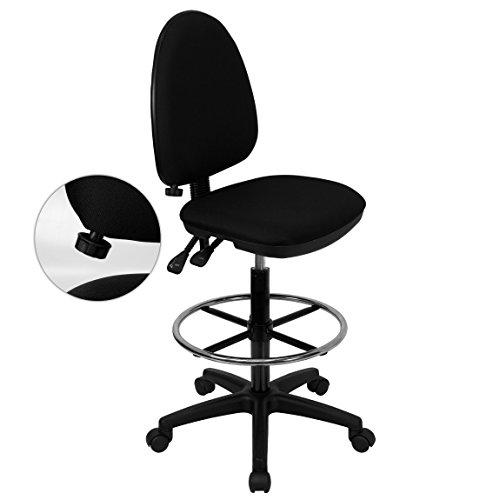 Flash Furniture WL-A654MG-BK-D-GG Mid-Back Black Fabric Mult