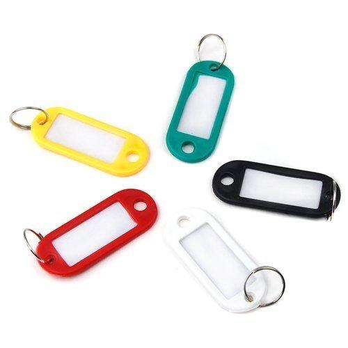 nicebuty 30 pcs llavero de plástico equipaje ID etiquetas ...