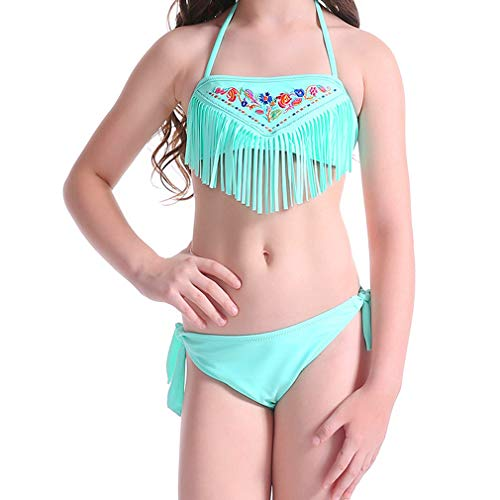 Sexybody Kid Girl's Pleated Swimdress Swimwear One Piece Tank Top Swimsuit Skirt Children Swimwear (Cute Bathing Suits For 13 Year Olds)