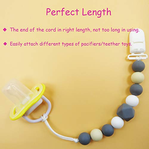 Amazon.com: MeBB Chic Silicone Pacifier Clip, Chewable Beads ...