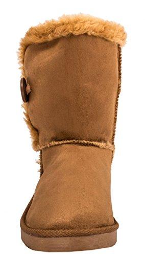 Elara - Botas plisadas Mujer marrón claro