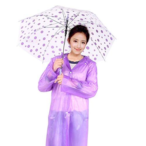Adultes Poncho Transparent With Alpinisme A Des Extérieur Dérivantes Pied Raincoat Jetable Imperméable Couleur Cap Sur Épaississement Léger Étanche Violet rXxgHvXwq