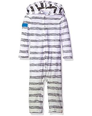 Baby Boys' Snap Front Organic Hooded Coverall