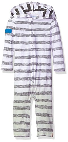 Burt's Bees Baby Baby Boys' Organic One-Piece Romper Coverall, Cloud Reverse Stripe Dip Dye, 3-6 - Piece Dip One