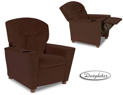 Cup Holder Micro Suede Kids Recliner Color: Chocolate