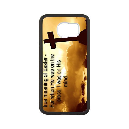 Phone Case for Samsung Galaxy S7 edge, Personalized Custom Pattern with Vintage Bible Verse Scripture Quotes, Durable Protective TPU Material Hard Cover, from Angel[Pattern-6] -