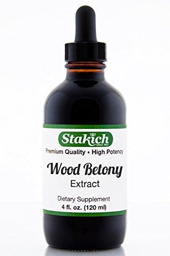 Stakich Wood Betony (Betonica лекарственный) 4 унции содержат спирта жидкий экстракт - высокое качество