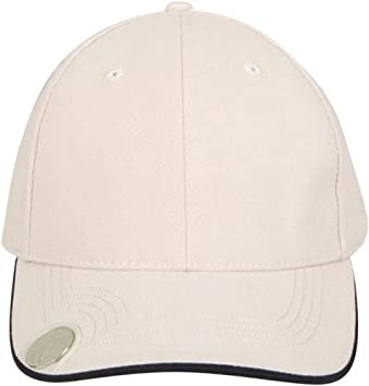4a804a59 Headwear Professionals 4035ST-NA Brushed Heavy Cotton Cap with Magnetic  Ball Marker on Peak -