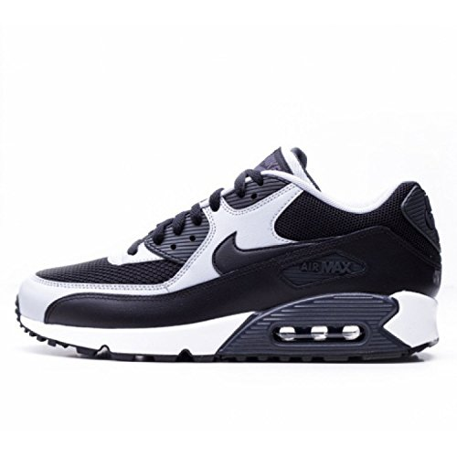 NIKE Men's Air Max 90 Essential Black/Black/Wolf Grey/Anthrct Running Shoe 9.5