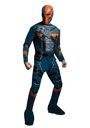 Rubie's Costume Men's Batman Arkham City Deluxe Muscle Chest Deathstroke, Multicolor, (Halloween Costumes Deathstroke)
