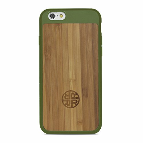 Bamboo Stylish (Extra Protective Bamboo Forest Green iPhone 7 / 8 Case with Silicon Shell for Extra Protection & Durability - Stylish, Eco-friendly Bamboo Wood Design by Reveal Shop (Bamboo/Green))
