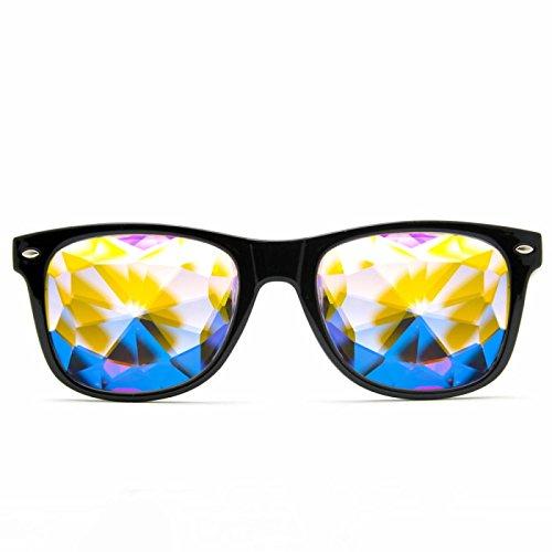 GloFX Ultimate Kaleidoscope Glasses - Rainbow EDM Rave Light Diffraction Festival Eyewear Edge Cut Bug Eye