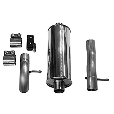 Dynomax 39522 Ultra Flo Polished Stainless Steel Cat-Back Single Exhaust System: Automotive