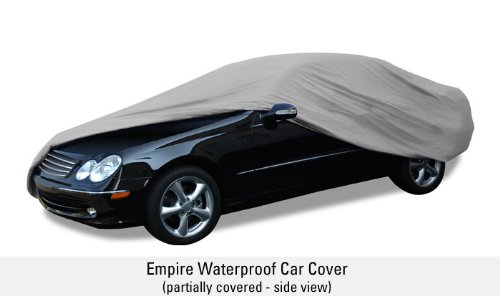 Budge Rain Barrier Car Cover Fits Sedans up to 228 inches, Waterproof RB-4 - (Polypropylene with Waterproof Film, Gray)