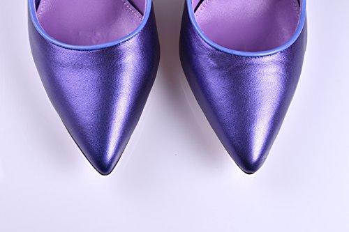 Semelle en Femme Brillant Violet Collection MILAN Gel 38 Exclusive 40 de Semelle Salon Escarpins Intérieure et en Taille Cuir ANNA Fabriquée Espagne en Lucero 5HO4xqqw