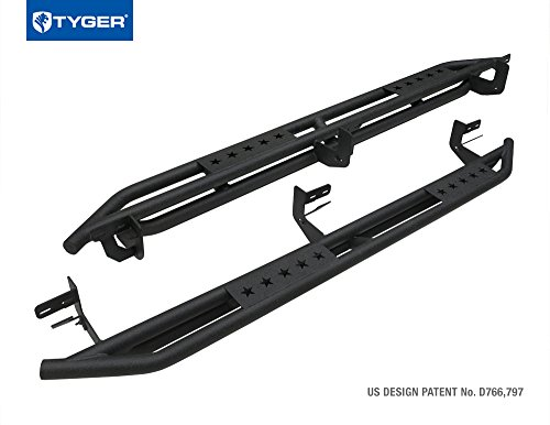 TYGER TG-AM2D20078 Star Armor Kit for 2009-2017 Ram 1500 Crew Cab & 2010-2017 Ram 2500/3500 Crew Cab | Textured Black | Side Step | Nerf Bars | Running Boards (2010 Dodge Ram Nerf Bars compare prices)