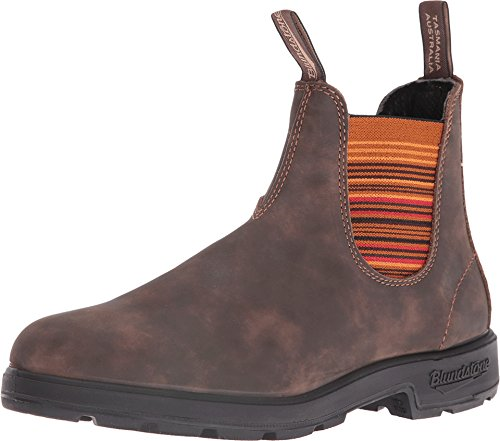 Blundstone Unisex 1348 Rustic Brown/Stripes Boot (Stripe Side Mens Boots)