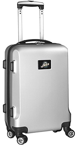 NBA Utah Jazz Carry-On Hardcase Spinner, Silver by Denco