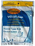 5 Hoover R30 Allergy Vacuum BAG + 2 Filters, Canister Vacuum Cleaners, 40101002, S1361, Type R30 Bags