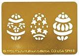 3 Easter Eggs Stencil