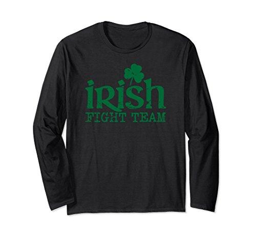 Unisex Irish Fight Team shamrock mma long-sleeve distressed shirt XL: Black - Mma Fight Team