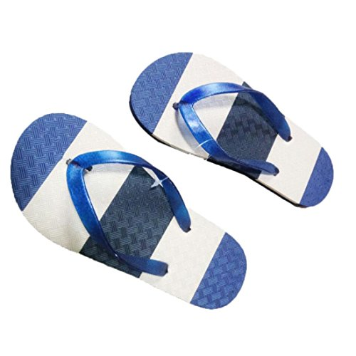 Malloom® Sandalen, Männer Herren Sommer Streifen Flip Flops Schuhe Sandalen Slipper Blau